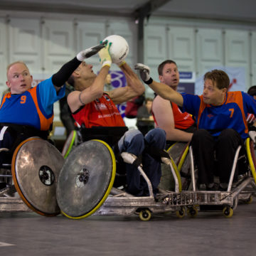 Craig Hospital Therapeutic Recreation Adventure Program brings inpatients with brain and spinal cord injury to the Denver Harlequins Wheelchair Rugby Team's international tournament.