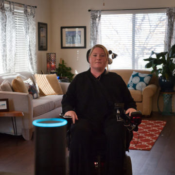Craig Hospital Grad EB Forst shares how assistive technology and electronic aids for daily living have helped her gain independence at home