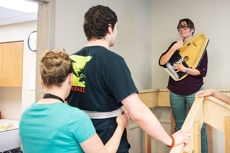 Music therapy and walking after brain injury at Craig Hospital