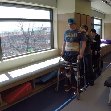 Connor Walsh Learning to Walk Again After Spinal Cord Injury at Craig Hospital