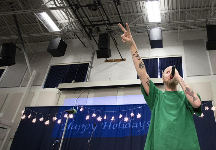 Craig Hospital Holiday Music Program with a performance by J-Dirty Rapper