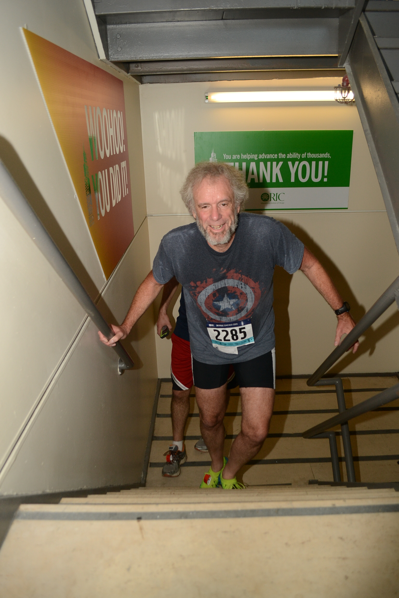 George Watson, former Craig Hospital patient, completes 90-stair climb after completing spinal cord injury rehabilitation