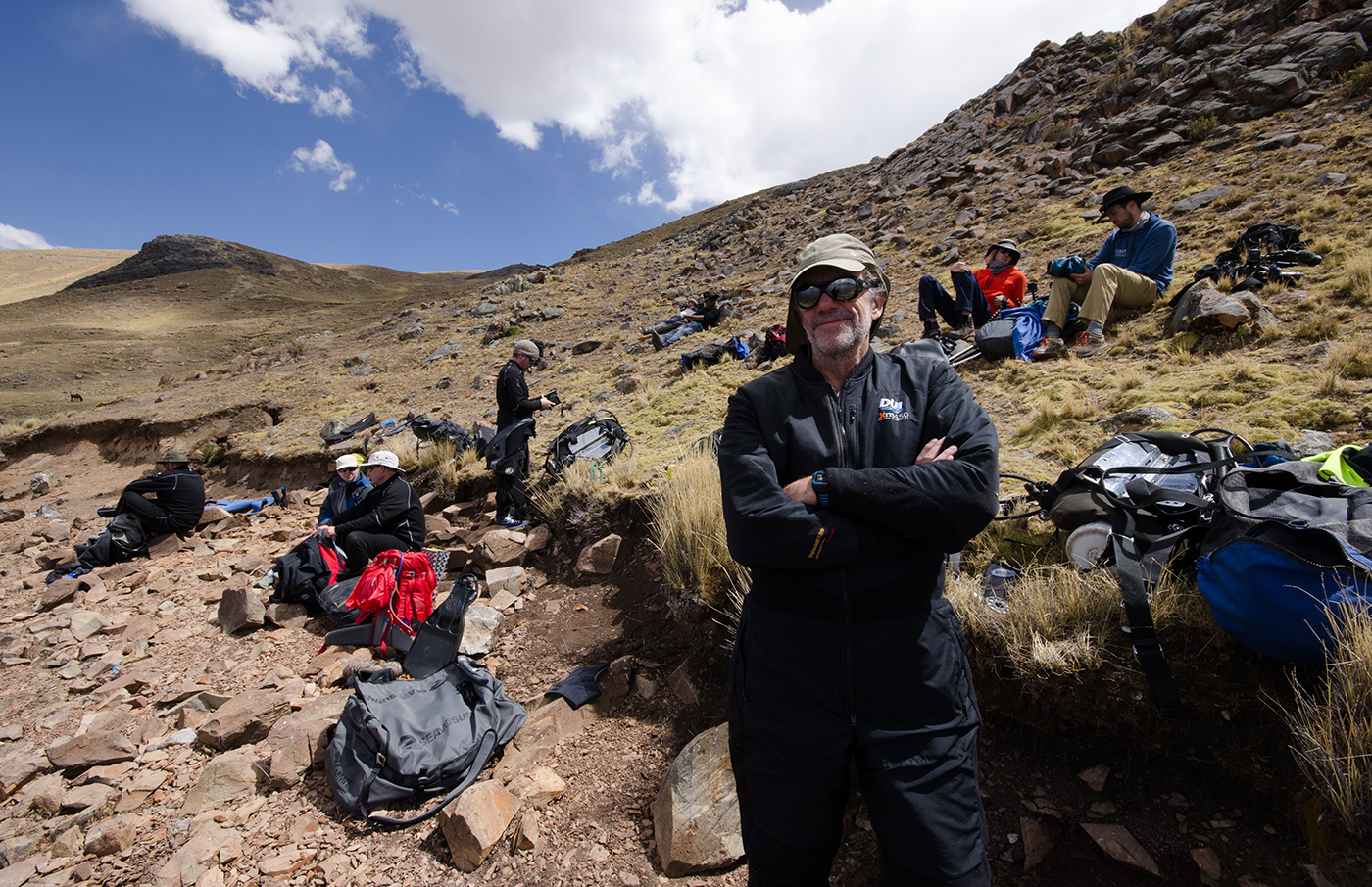 George Watson, former Craig Hospital spinal cord injury patient, hiking as he returns to the site of his accident three years after his injury