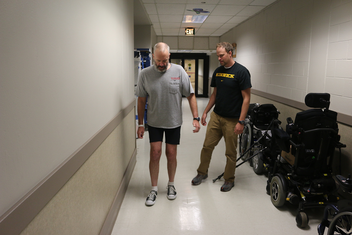 George Watson in rehabilitation for spinal cord injury at Craig Hospital