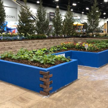 Accessible design raised garden beds at the Colorado Garden Foundation Garden & Home Show 2019