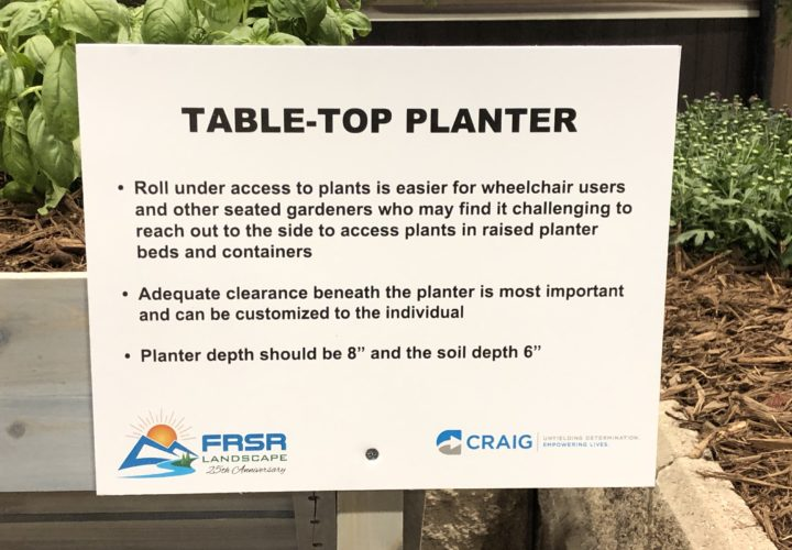 Colorado Home and Garden Show Table Top Planter Sign