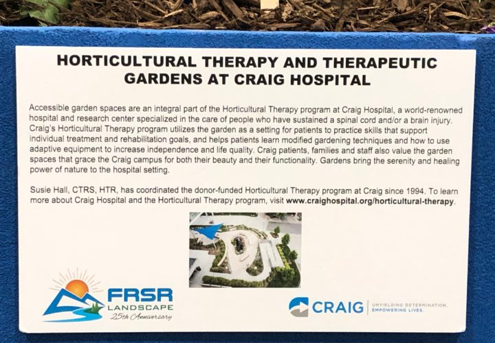 Horticultural Therapy Program and Gardens at Craig Hospital