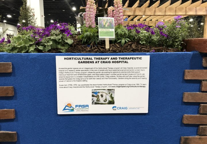 Horticultural therapy and therapeutic gardens at Craig Hospital