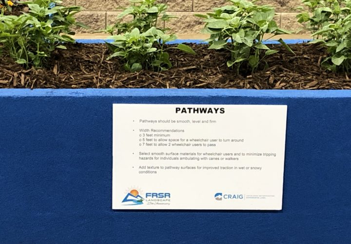 Pathway width for accessible design at the Colorado Garden & Home Show
