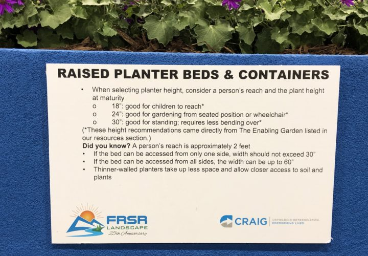 Raised planter beds and containers for accessible design