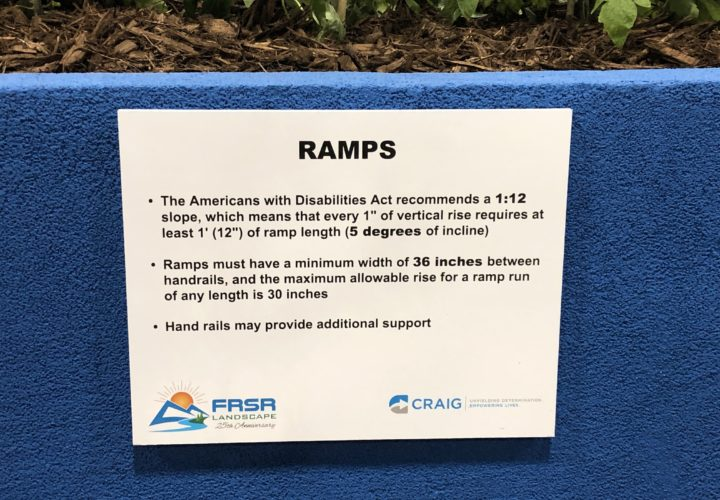 Ramp recommendations for accessible garden design