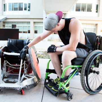 Therapeutic Recreation Alumni Adaptive Equipment Scholarship at Craig Hospital helps patients with spinal cord injury gain independence.