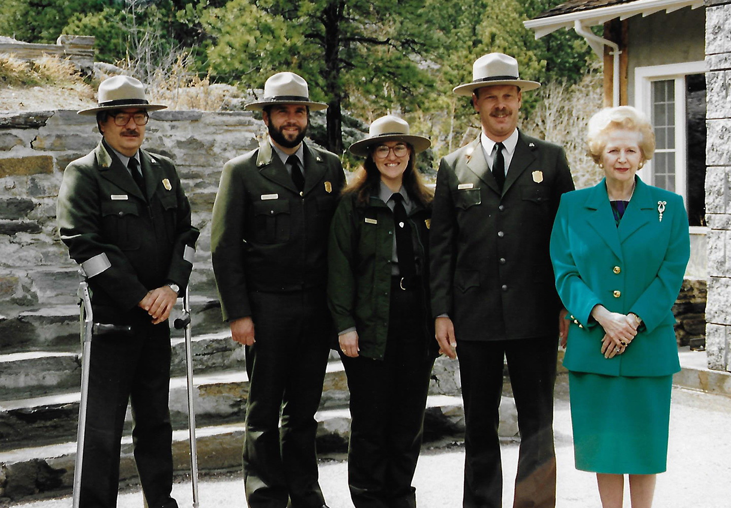 Jim Popovich at Mount Rushmore with Margaret Thatcher