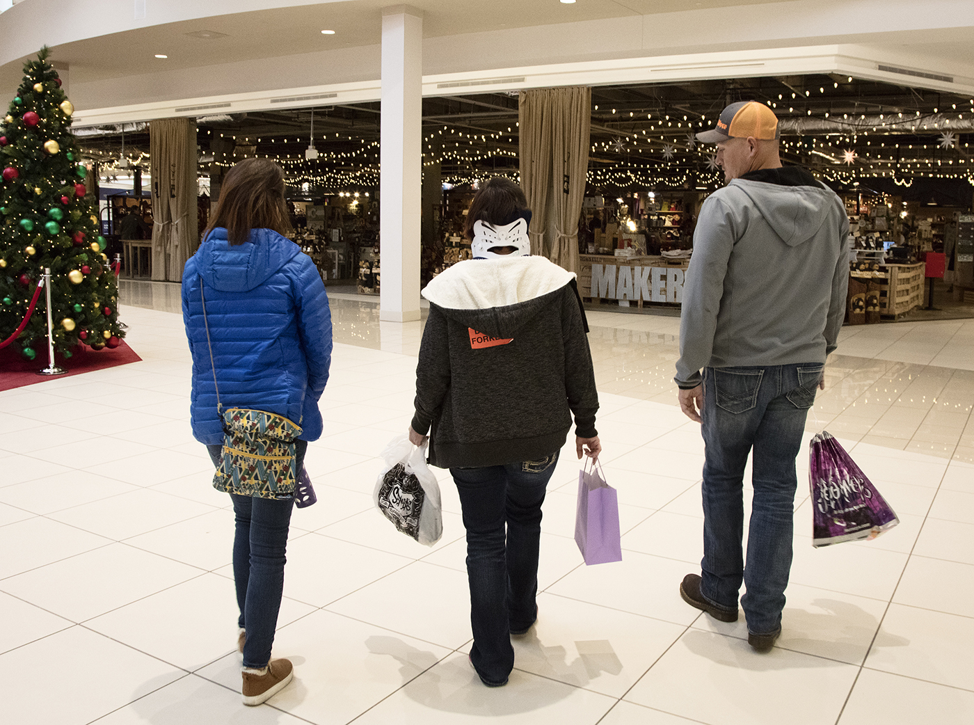 Craig Hospital Brain Injury Patient at a Mall Shopping for Holiday Gifts