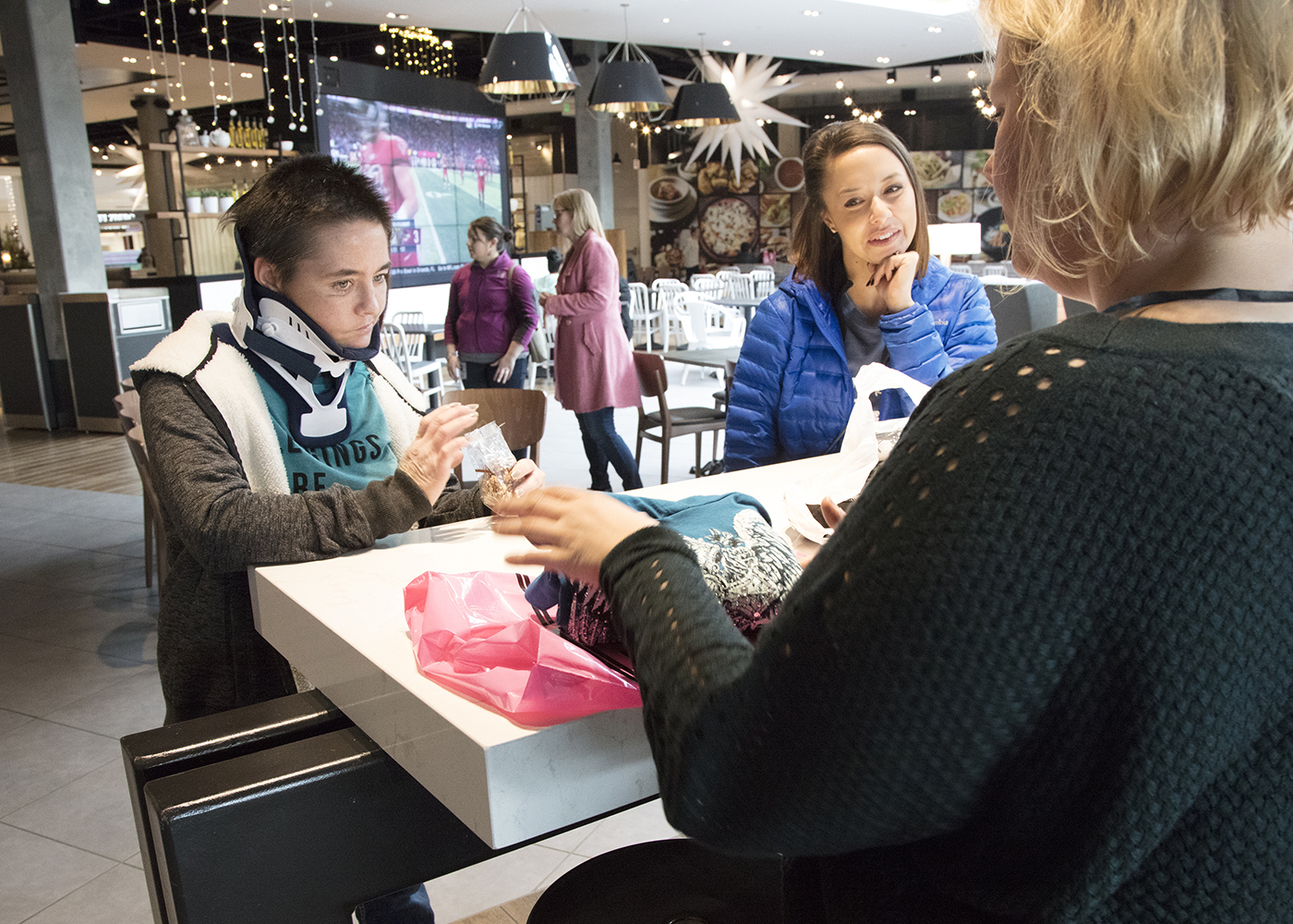 Craig Hospital Spinal Cord Injury Patient & Traumatic Brain Injury Patients Paying for Holiday Presents at a Mall