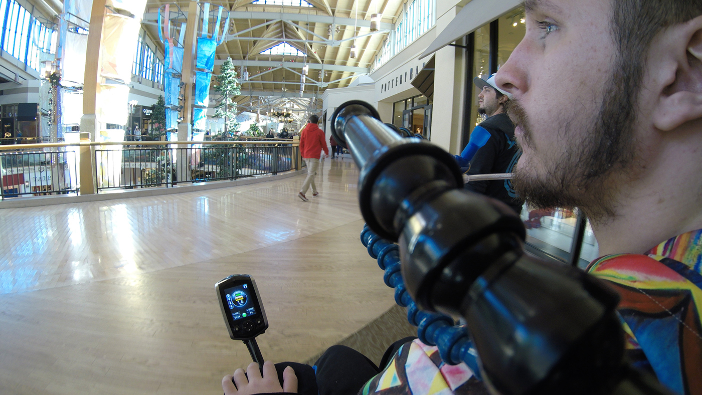 Craig Hospital Spinal Cord Injury Patients Shopping for Holiday Presents at a Mall
