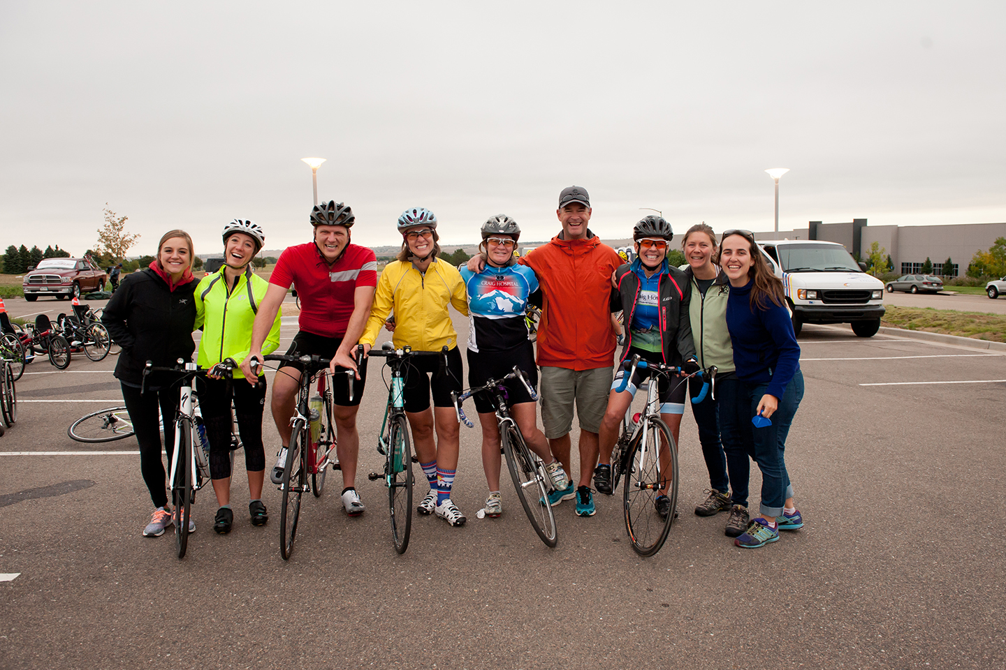 Participants in the 2017 Pedal 4 Possible charity bike ride benefiting Craig Hospital