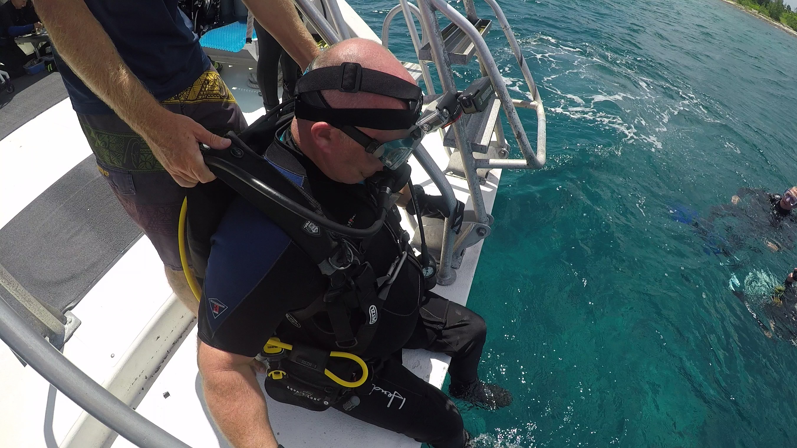 Corey Fairbanks in Cayman Brac for a week of adaptive scuba diving with Craig Hospital and A-1 Scuba.