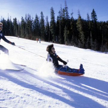 Craig Hospital Therapeutic Recreation Adventure Program Throwback to the old sit ski adaptive equipement used to take patients skiing in Colorado