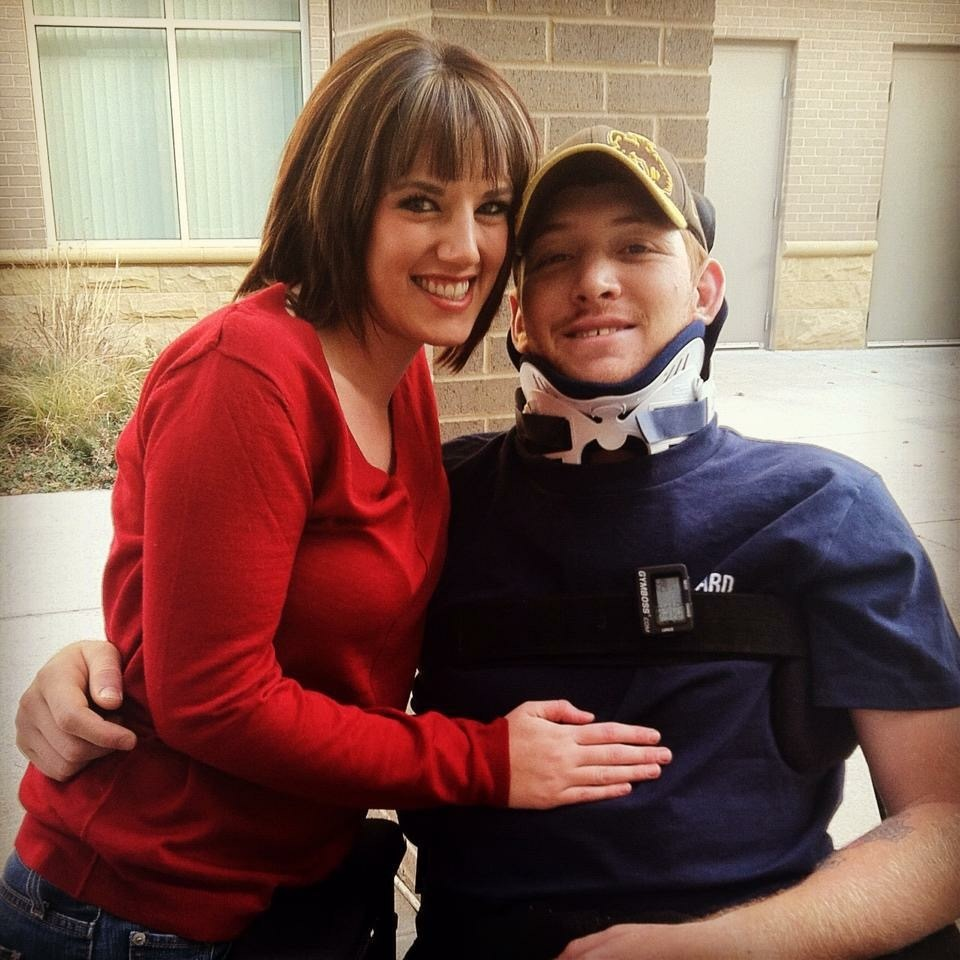 Kaleb Wilson spinal cord injury patient at Craig Hospital with his wife Brittany Wilson