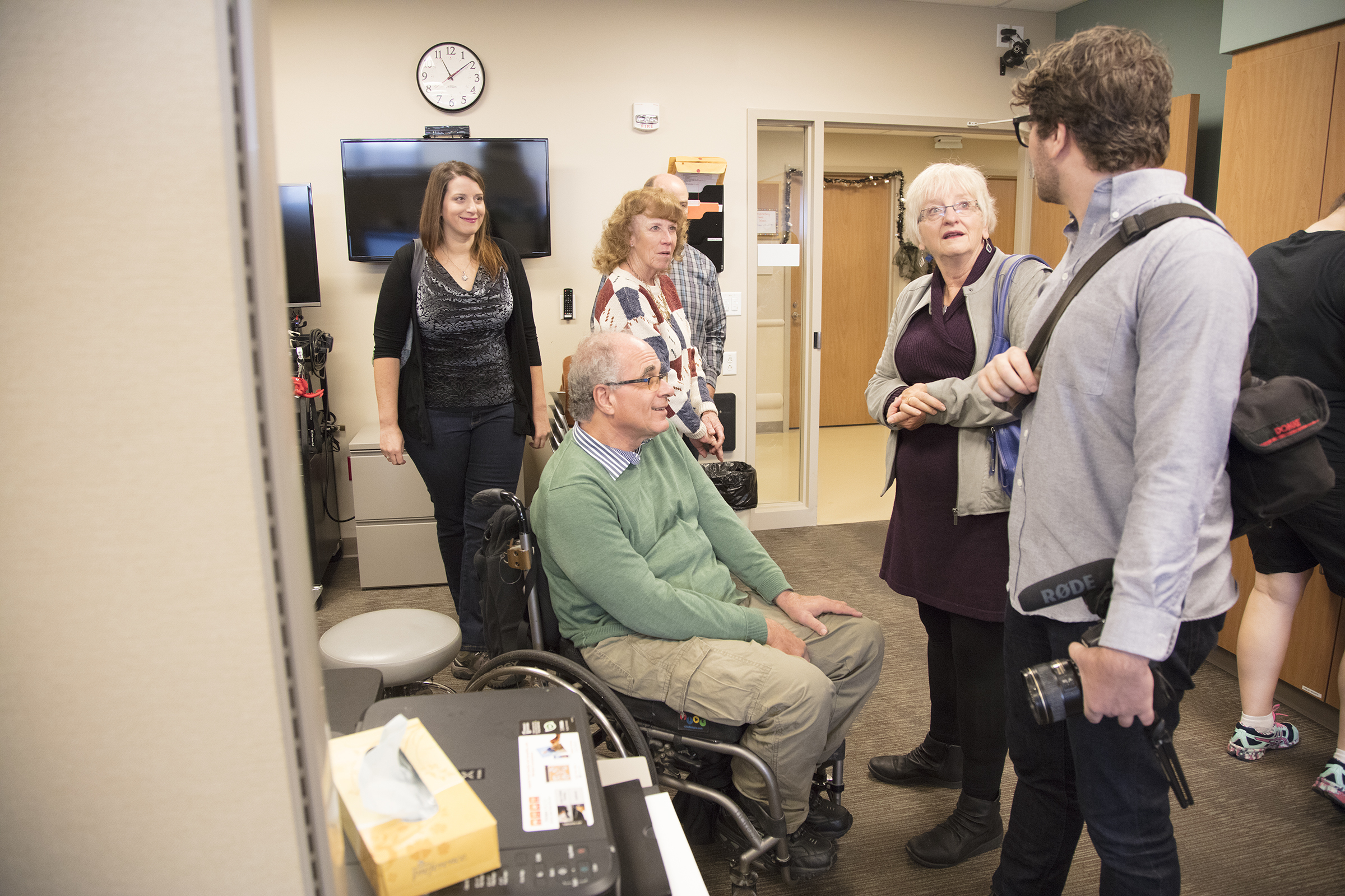 Former Craig Hospital spinal cord injury and traumatic brain injury patient, Jim Penta, visits with Craig team on Wish of a Lifetime visit