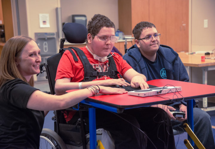 Craig Hospital Assistive Technology Lab occupational therapists and Adaptive Gaming Program patients help inform design of Xbox Adaptive Controller.