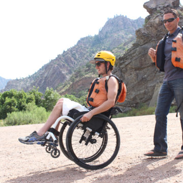 Craig Hospital Spinal Cord Injury Patient Lee Castelo on a Therapeutic Recration Rafting Adventure Trip