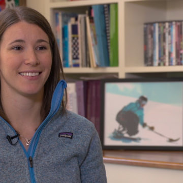 Kelly-Brush-Davisson discusses her love of sports and therapeutic recreation with the use of adaptive sports equipment after spinal cord injury rehabilitation at Craig Hospital in Denver, Colorado
