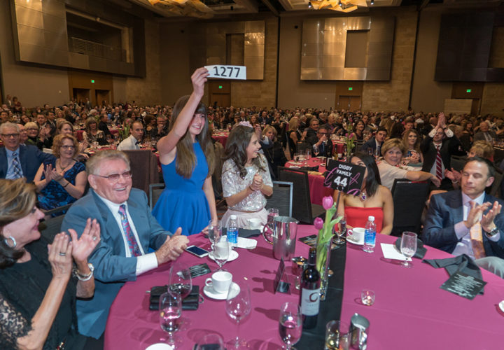 ​Granddaughters of Craig graduate and benefactor Don Digby pledge $100,000 in the Patient Assistance Paddle Auction