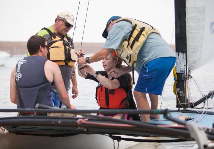 Craig Hospital hosts 39th Hobie Day patient boating outing.
