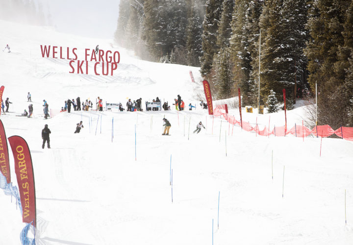 Dana Polonsky skis on Craig team at 2018 NSCD Wells Fargo Cup where Craig announces partnership to further adaptive sports and recreation community.