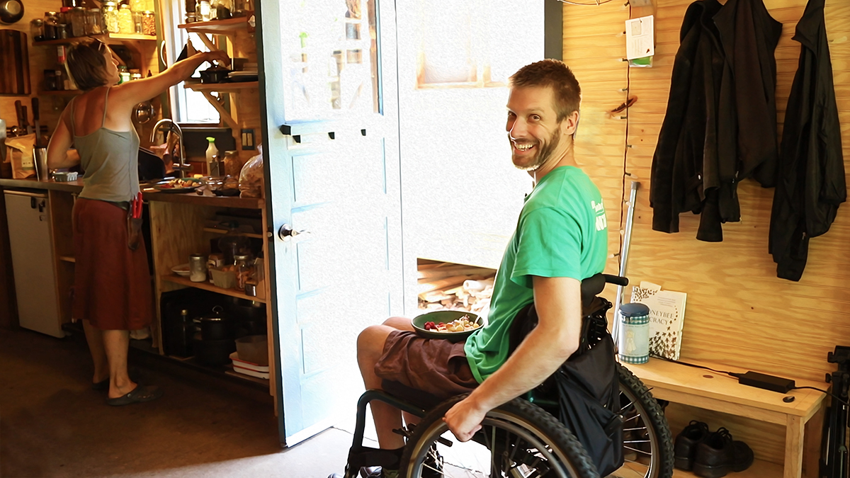 Dan Dean In a Wheelchair Back On the Farm After Spinal Cord Injury Rehabilitation at Craig Hospital