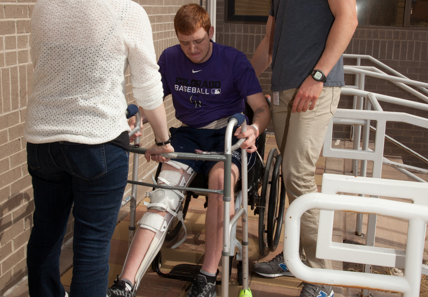 Spinal Cord Injury Patient Working With Craig Hospital's Interdisciplinary Treatment Team