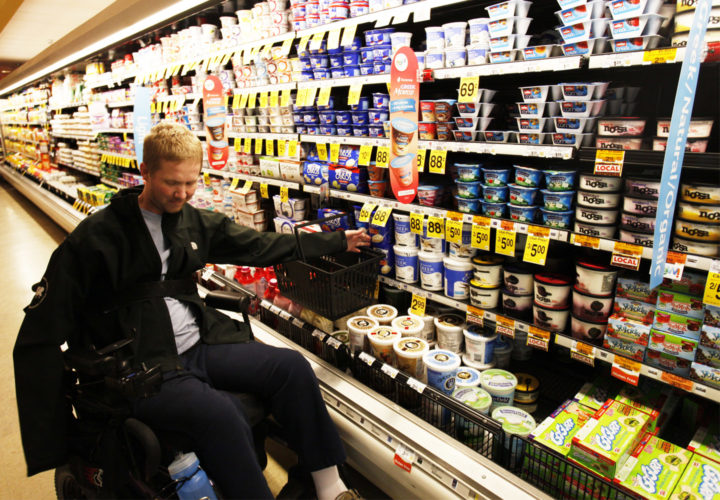 Spinal Cord Rehabilitation Patient Grocery Shopping   Craig Hospital