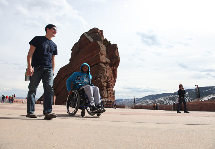 Craig Hospital | Spinal Cord Injury Rehabilitation Patients Participating in Therapeutic Recreation at Red Rocks