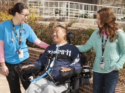Craig Hospital | Spinal Cord Injury Rehabilitation Patient In Respiratory Therapy Program